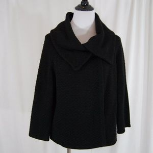 Banana Republic Black Merino Wool Cardigan S Snap